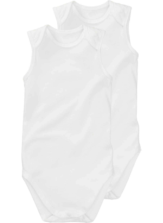 HEMA Romper Organic Katoen Stretch - 2 Stuks Wit (blanc)