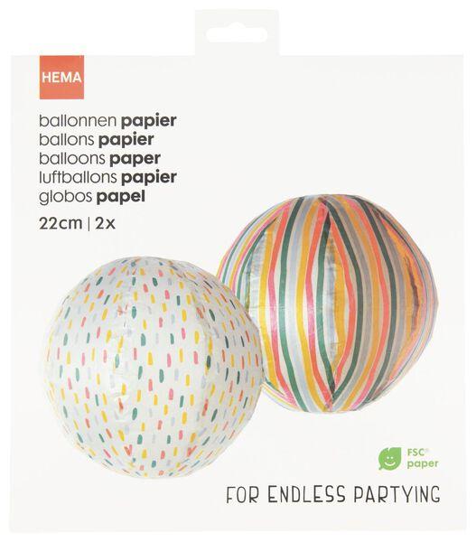 papieren ballonnen Ø22 cm - 2 stuks - 14210114 - HEMA