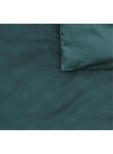 dekbedovertrek - hotel katoen satijn - 240 x 220 cm - groen stip - 5710049 - HEMA
