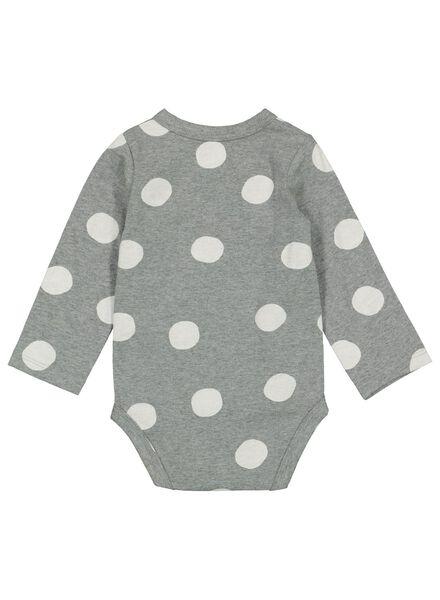 newborn overslagromper biologisch katoen stretch grijsmelange grijsmelange - 1000015314 - HEMA