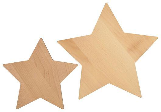 snijplanken ster 32/24 cm - 2 stuks - 25640030 - HEMA