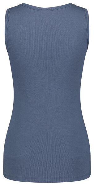 dames tanktop rib blauw blauw - 1000024068 - HEMA