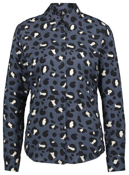damesblouse donkerblauw donkerblauw - 1000020925 - HEMA