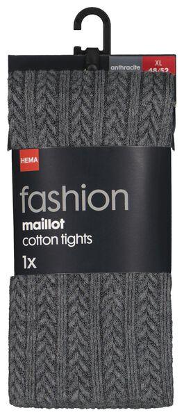 maillot fashion kabel grijs 48/52 - 4050259 - HEMA
