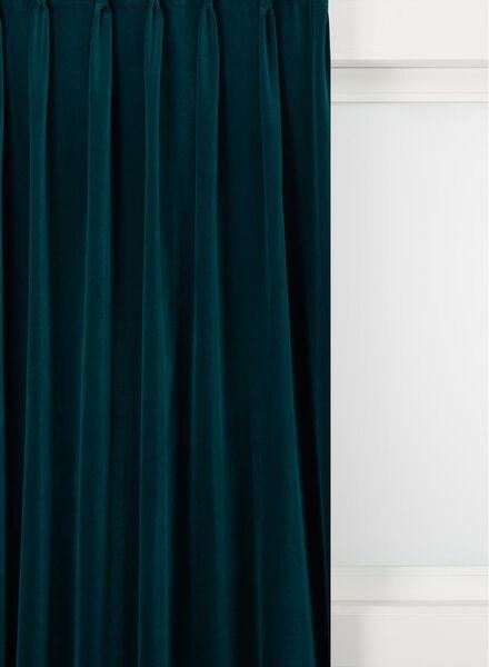 gordijnstof velours blauw blauw - 1000016068 - HEMA