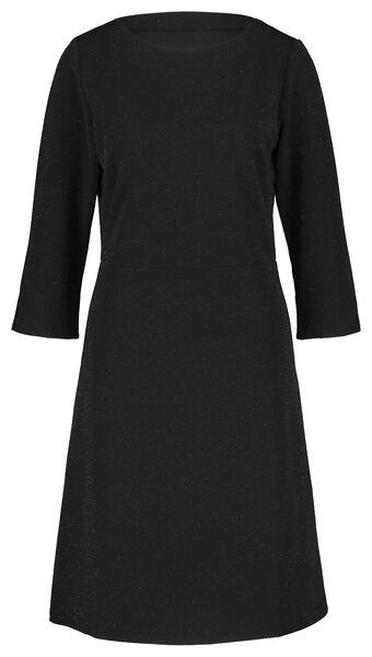 damesjurk glitter zwart zwart - 1000021697 - HEMA