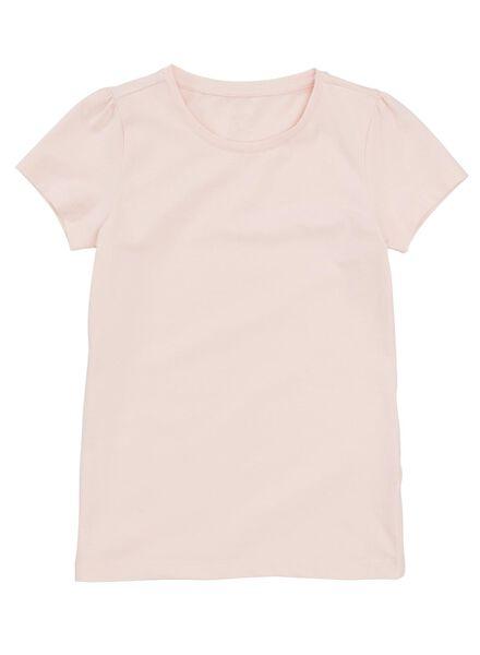2-pak kinder t-shirts lichtroze lichtroze - 1000011199 - HEMA