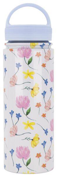 isoleerfles 500ml rvs bloemen - 61140139 - HEMA