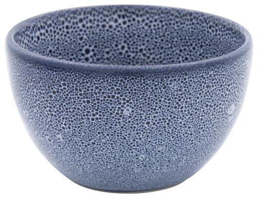 HEMA Schaal 10cm Porto Reactief Glazuur Wit/blauw