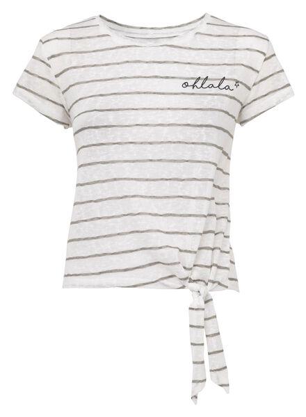 dames t-shirt gebroken wit - 1000008078 - HEMA