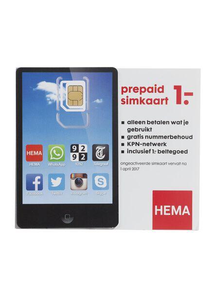 HEMA prepaid simkaart - 40500010 - HEMA