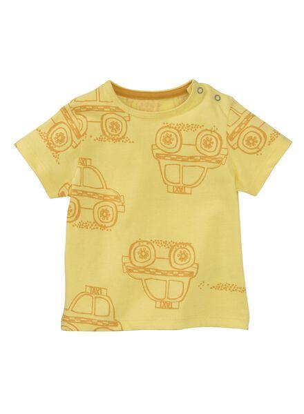 baby t-shirt lichtgeel 62 - 33100321 - HEMA