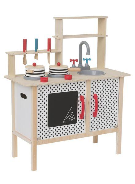 houten keuken met kookgerei 78.5 x 65 x 29.5 cm - 15122480 - HEMA