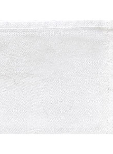 tafelkleed - 140 x 250 - katoen - wit stip - 5390118 - HEMA