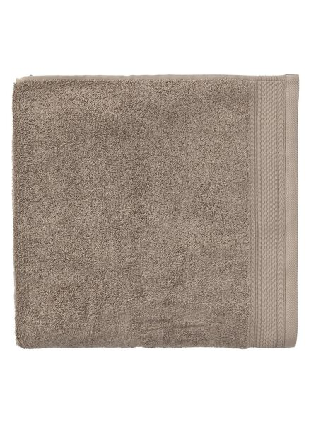 handdoek - 70 x 140 cm - hotel extra zwaar - taupe uni - 5240195 - HEMA