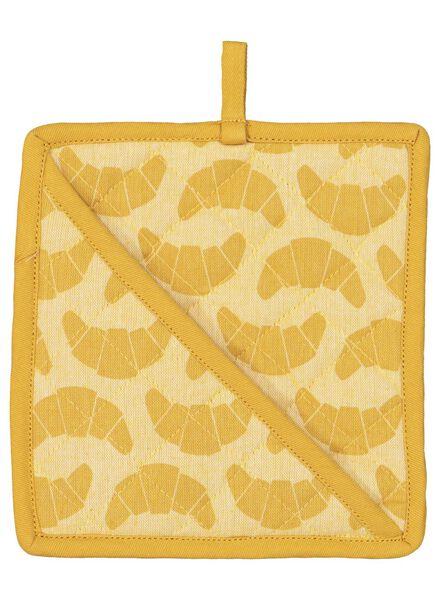 pannenlap - 21 x 21 - katoen - okergeel croissant - 5400147 - HEMA
