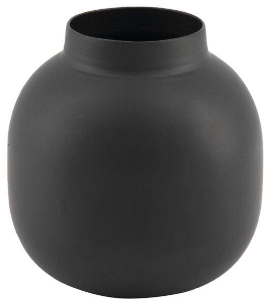 vaas Ø6,5x7 - metaal zwart - 13322002 - HEMA