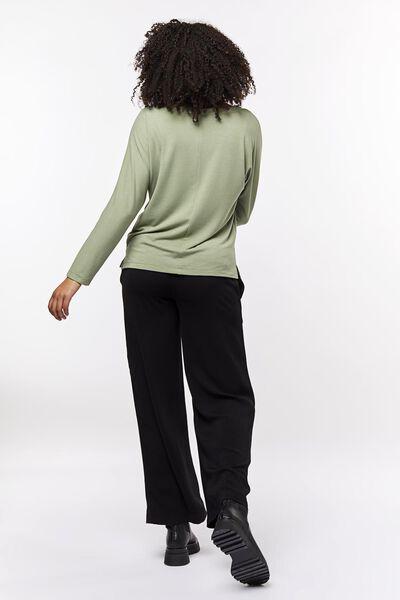 dames t-shirt boothals lichtgroen lichtgroen - 1000023475 - HEMA