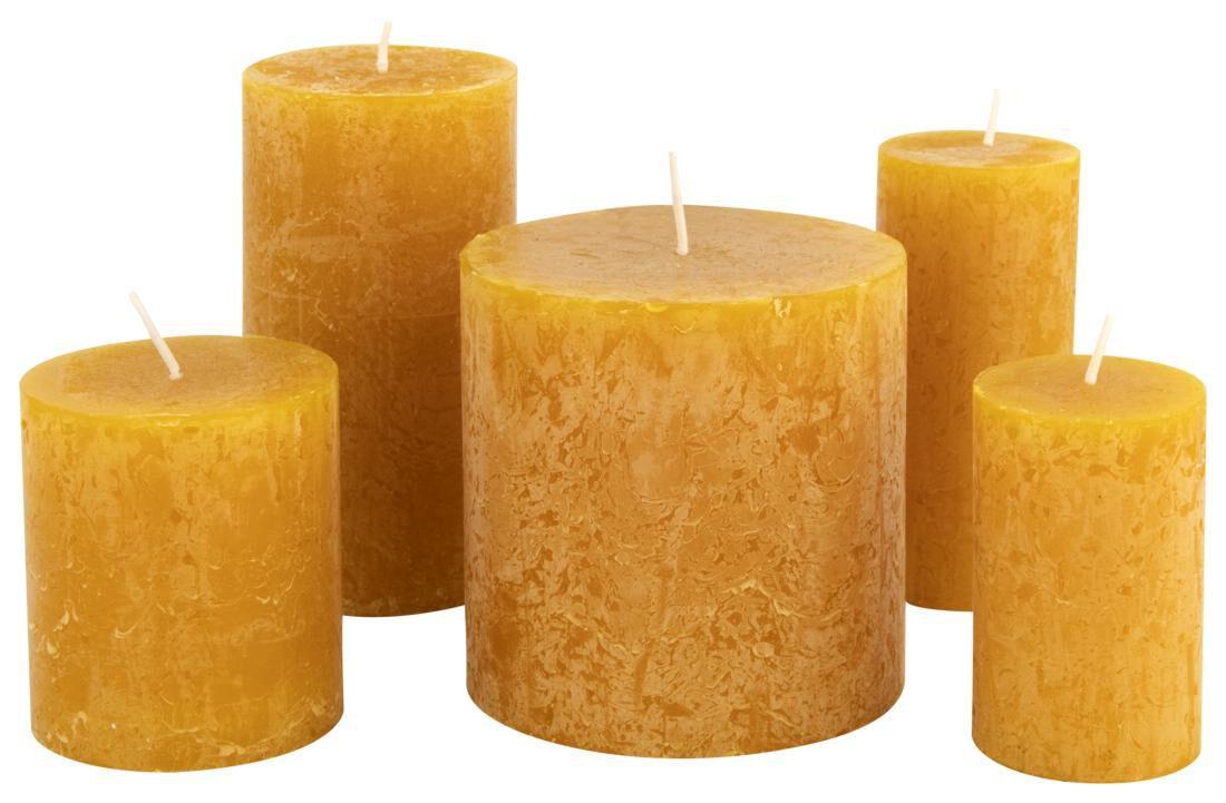 HEMA Rustieke Kaarsen Okergeel (okergeel)