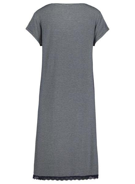 dames nachthemd donkerblauw L - 23463893 - HEMA