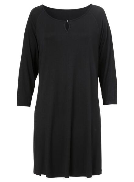 dames nachthemd zwart - 1000002916 - HEMA