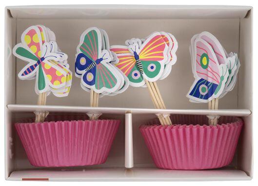 HEMA Cupcake Set Vlinder 24 Stuks