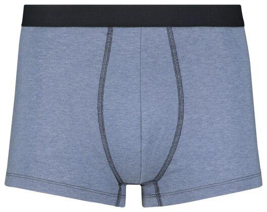 3-pak herenboxers kort donkerblauw donkerblauw - 1000018350 - HEMA