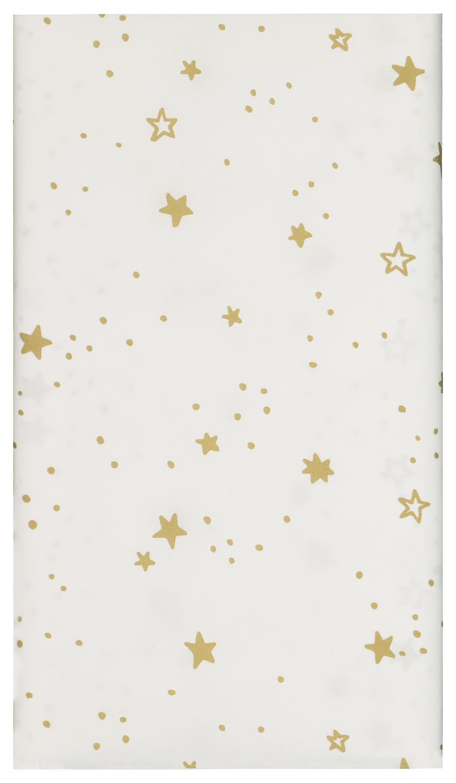 HEMA Tafelkleed Papier 138x220 Wit Met Sterren (goud)