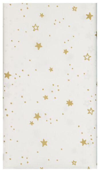 tafelkleed papier 138x220 wit met sterren - 25600150 - HEMA