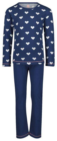 kinderpyjama blauw blauw - 1000018479 - HEMA