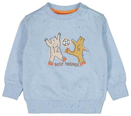 babysweater best friends blauw blauw - 1000022150 - HEMA