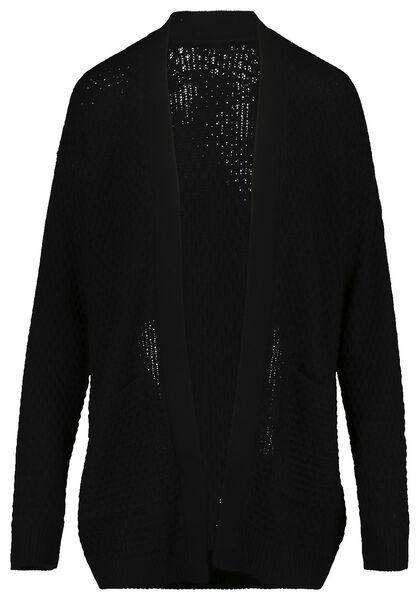 damesvest gebreid zwart zwart - 1000019238 - HEMA