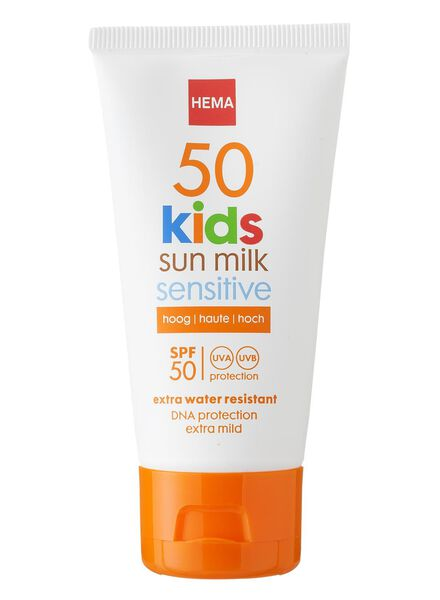 kids sensitive zonnemelk SPF 50 mini - 11610112 - HEMA