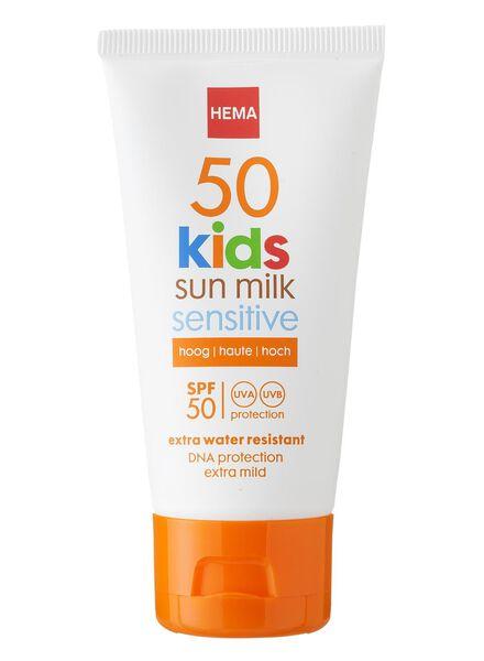 kids sensitive zonnemelk SPF 50 mini - 11610112 - HEMA