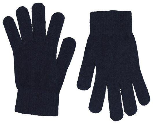 kinderhandschoenen gebreid super zacht donkerblauw donkerblauw - 1000020803 - HEMA