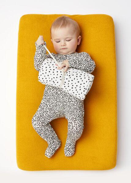 newborn jumpsuit met bamboe zwart 68 - 33428435 - HEMA