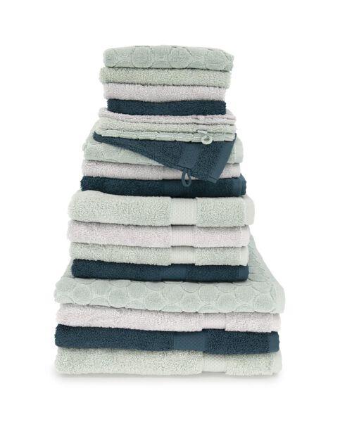 handdoek - zware kwaliteit - donkergroen donkergroen gastendoekje - 5220012 - HEMA