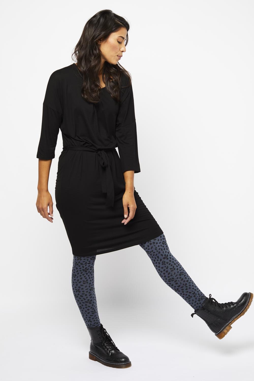 HEMA Damesjurk Plooien Zwart (zwart)