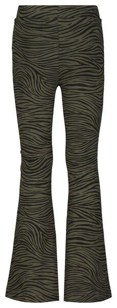 kinderlegging flared zebra legergroen 146/152 - 30875929 - HEMA