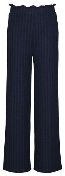 kinderbroek rib donkerblauw donkerblauw - 1000024939 - HEMA