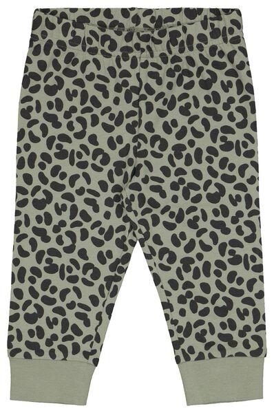 babypyjama's dino/stippen 2 stuks grijsmelange grijsmelange - 1000022579 - HEMA
