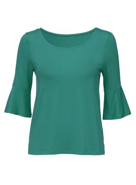dames t-shirt groen - 1000008201 - HEMA