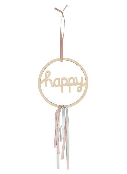 DIY houten ring happy Ø 20 cm - 25820030 - HEMA