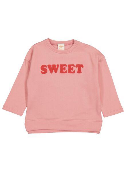 babysweater koraalroze koraalroze - 1000014248 - HEMA