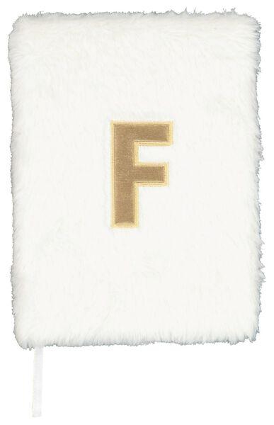 Notitieboek A5 fluffy letter F