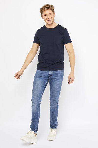 heren t-shirt donkerblauw donkerblauw - 1000021754 - HEMA