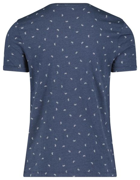 heren t-shirt donkerblauw donkerblauw - 1000018197 - HEMA