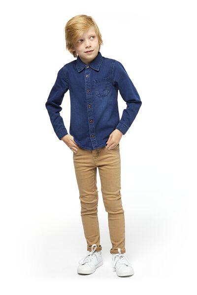 kinderoverhemd denim denim - 1000020744 - HEMA