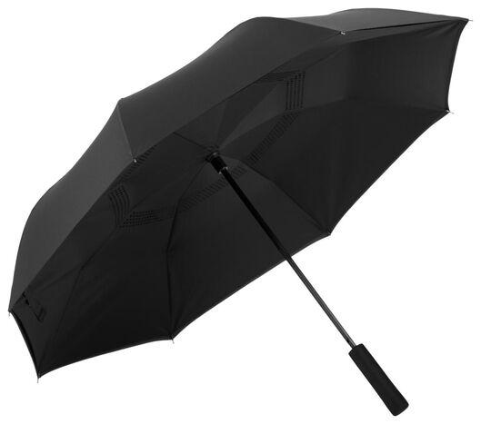 Paraplu omgekeerd Ø105cm zwart