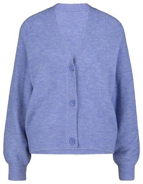 damesvest gebreid zeeblauw zeeblauw - 1000018241 - HEMA